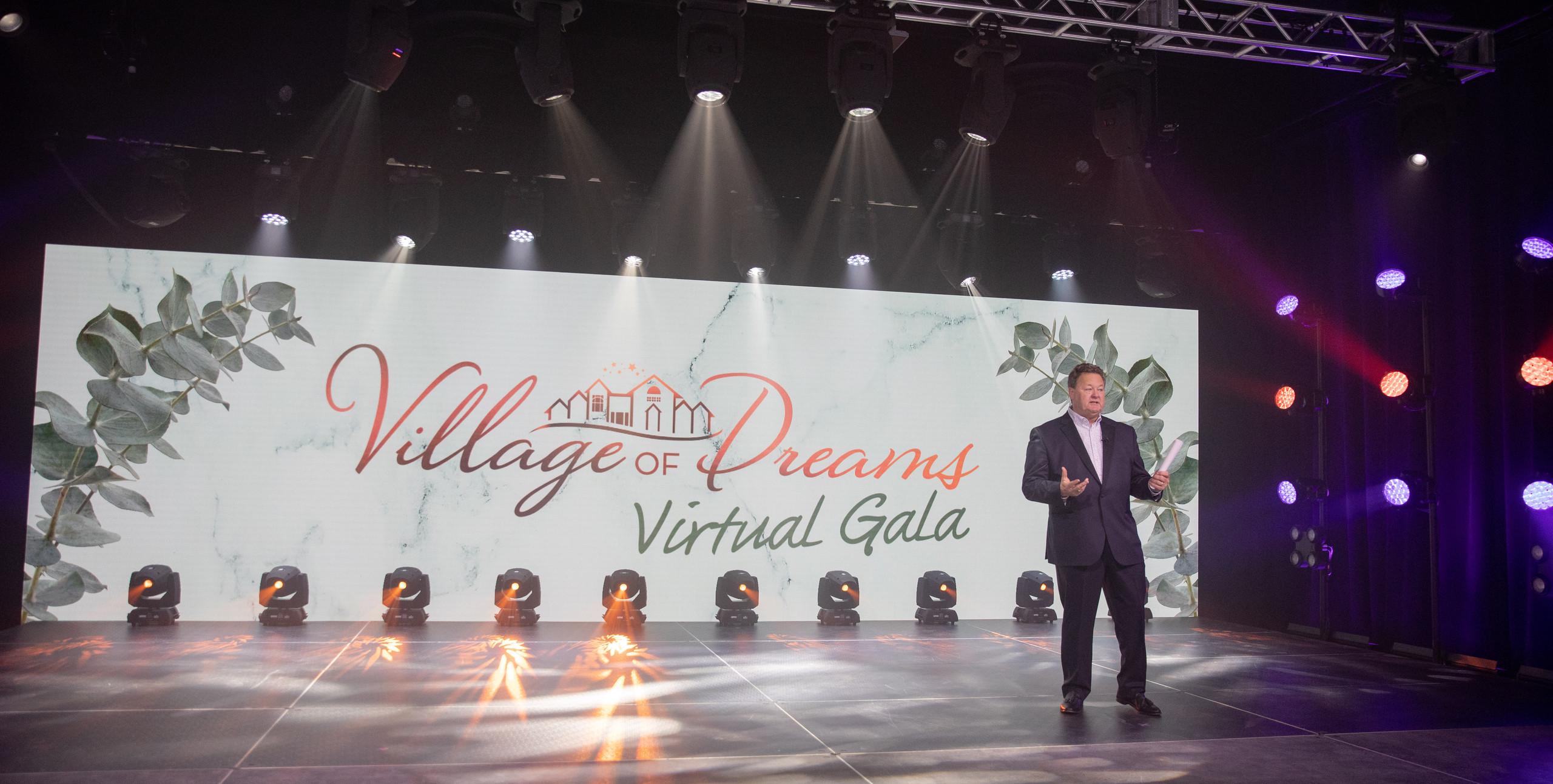 Riverview School's virtual gala on stage in virtual studio