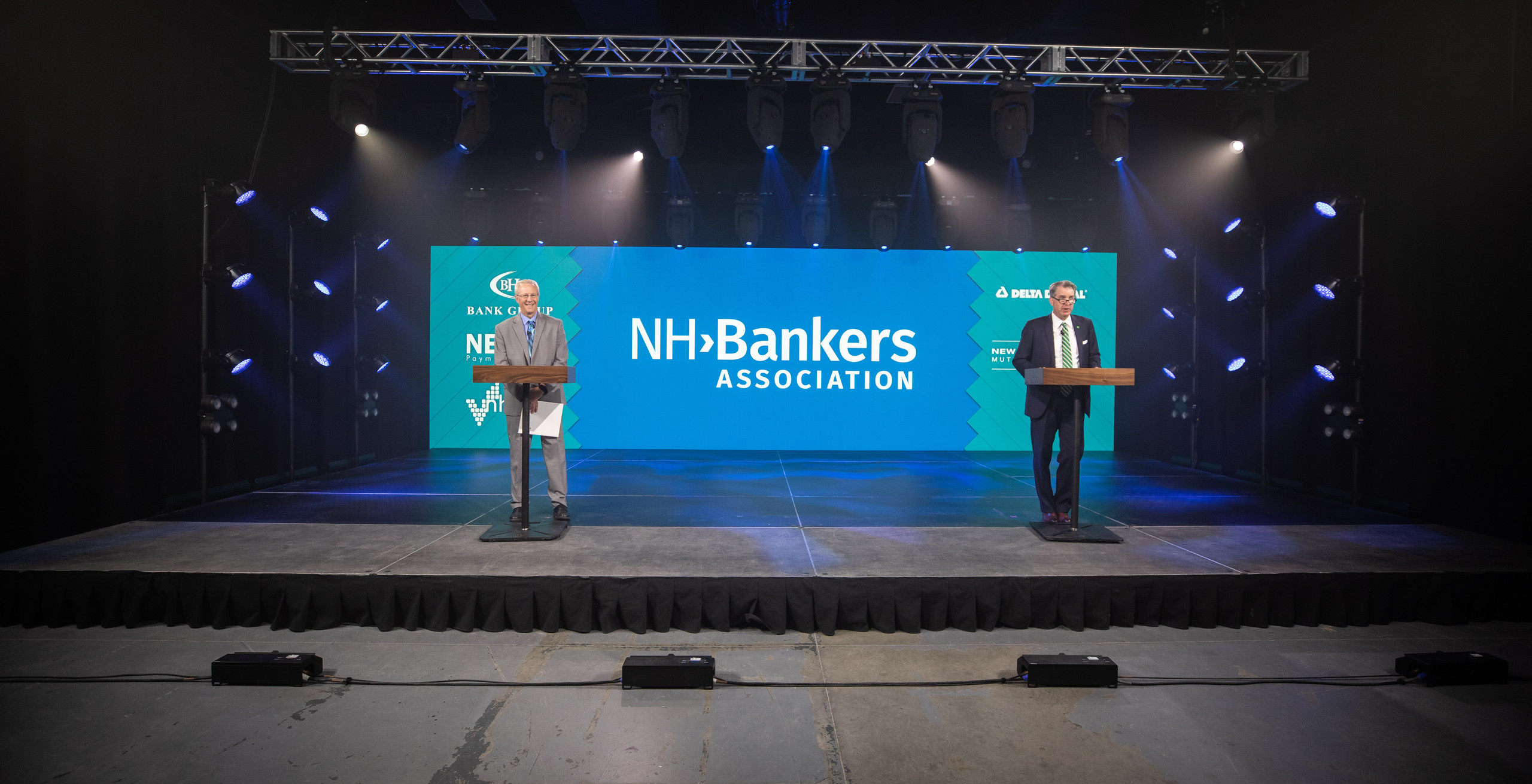 NH Bankers Association presenting on virtual stage in studio