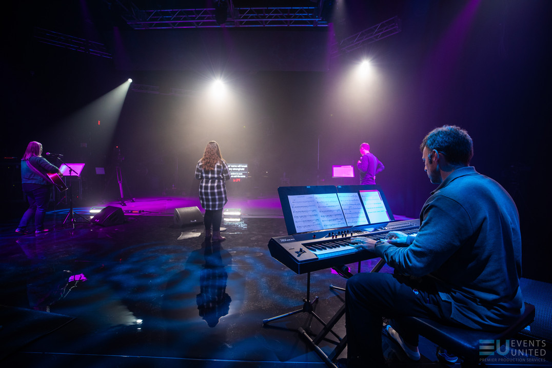 virtual studio, livestream, virtual event, event production, event, led wall, video wall, studio, derry nh, new hampshire, virtual concert, concert, church, house of worship
