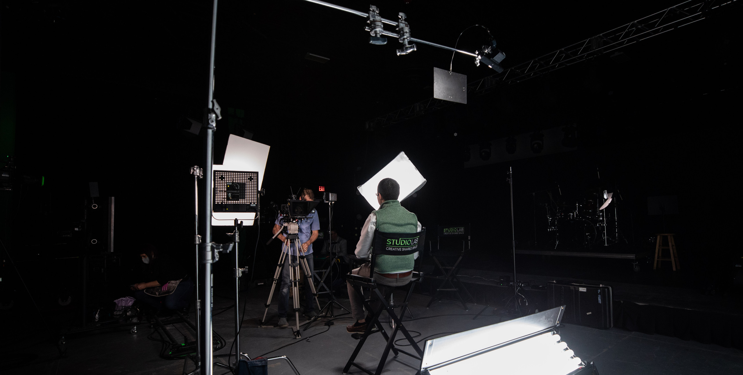 Commercial shoot for Corky Messner in studio