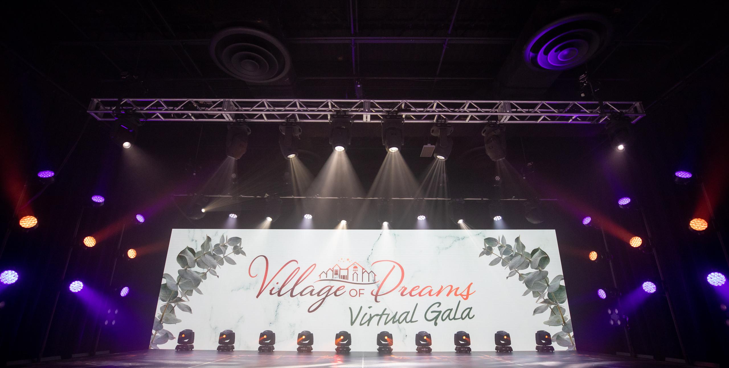 Riverview School's virtual gala in virtual studio