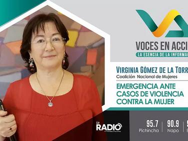 Virginia Gómez de la Torre en la Radio de la Asamblea Nacional 97.5