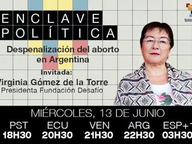 Virginia Gómez de la Torre en EnClave Política