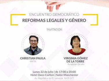 Encuentro democrático - Reformas legales y género