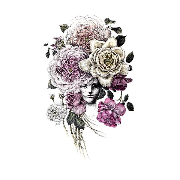 夏の夜の薔薇