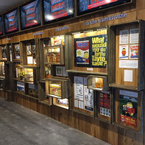 Boxed Shelf Display Wall