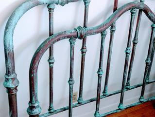 Copper and patina bed
