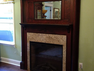 Fireplace Mantle Makeover