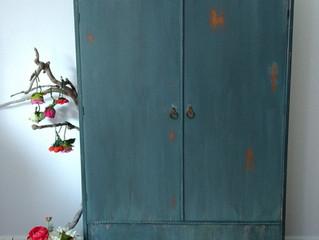 Large blue armoire