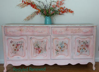 Coral Crush Flowered Buffet