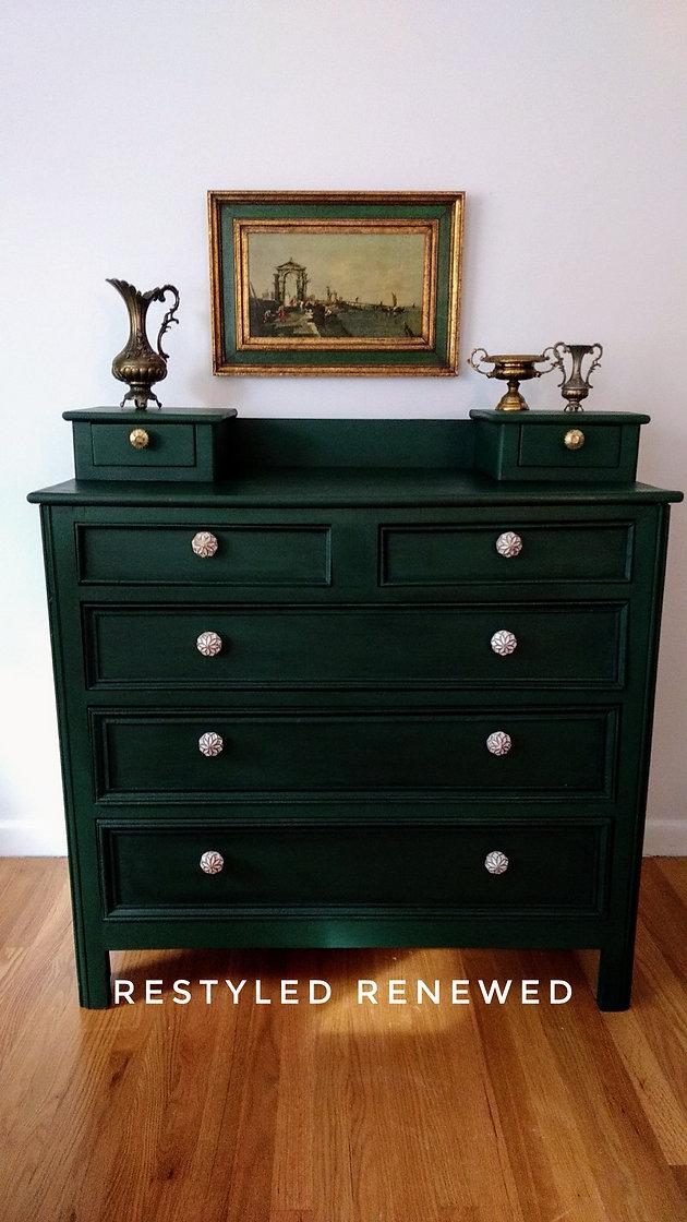 Dark Green Dresser
