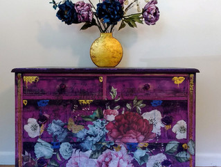The Purple Boho Dresser
