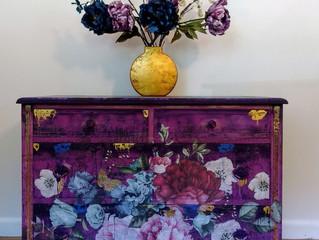 The Purple Boho Dresser
