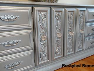 Metallic Croc Dresser