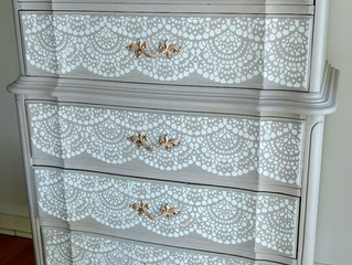 French Provincial lace set