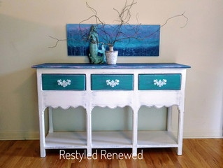 Beach sofa table