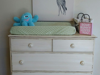 Nursery changing table dresser and furniture