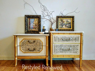 Cheetah print nightstands
