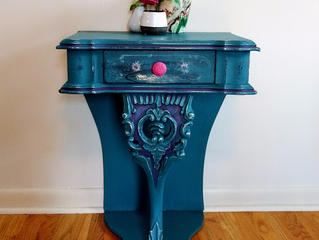 Boho chic end table