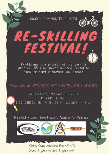 Re-Skilling Festival, March 18