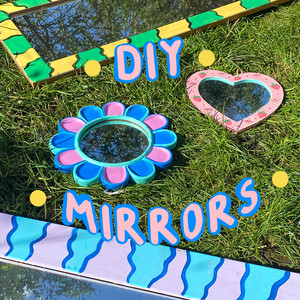 DIY funky mirrors