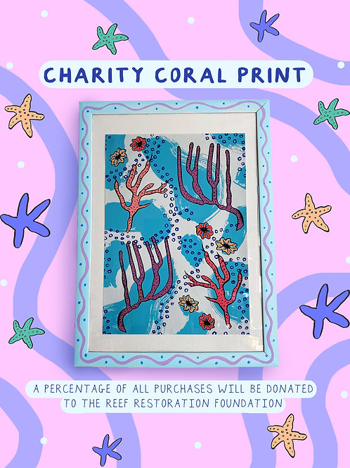 Pre-Order Oceans Day Charity Coral Print A3/A4