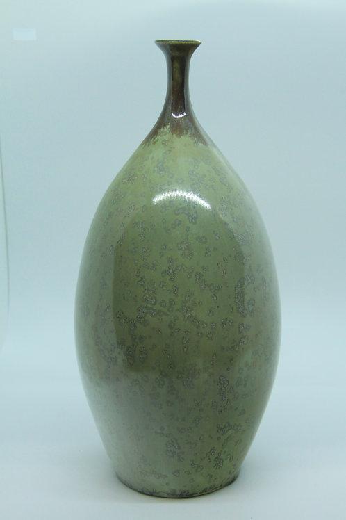 Green Crystal Vase