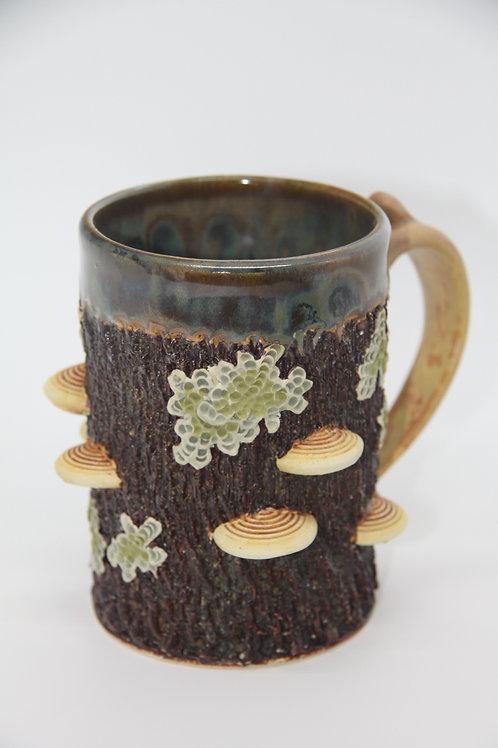 Mushroom/Lichen Mug- Straight/Green