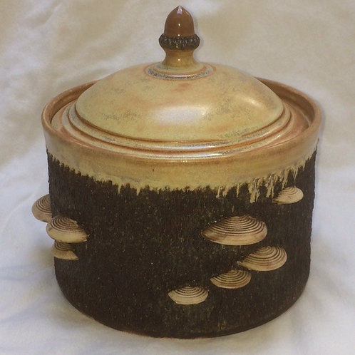 Canister with Mushrooms - Large