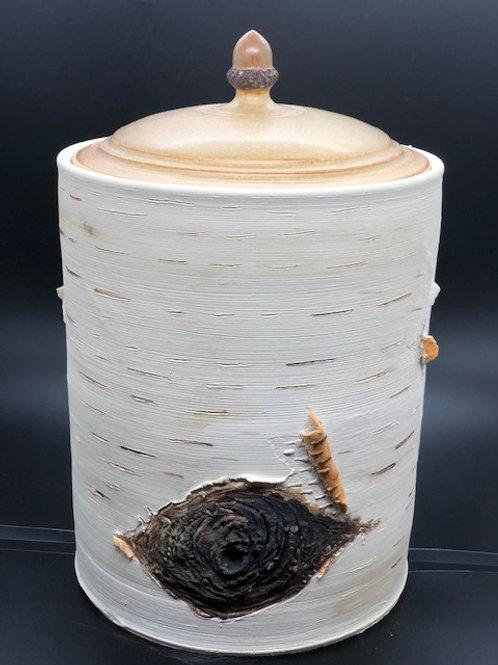 Birch Bark Cookie Jar