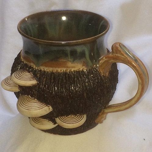 Mushroom Mug-Belly-green