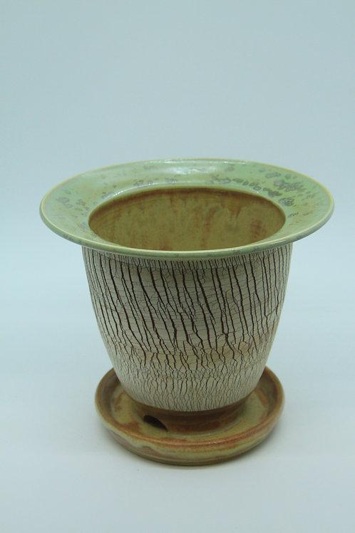 Crackle Flower Pot