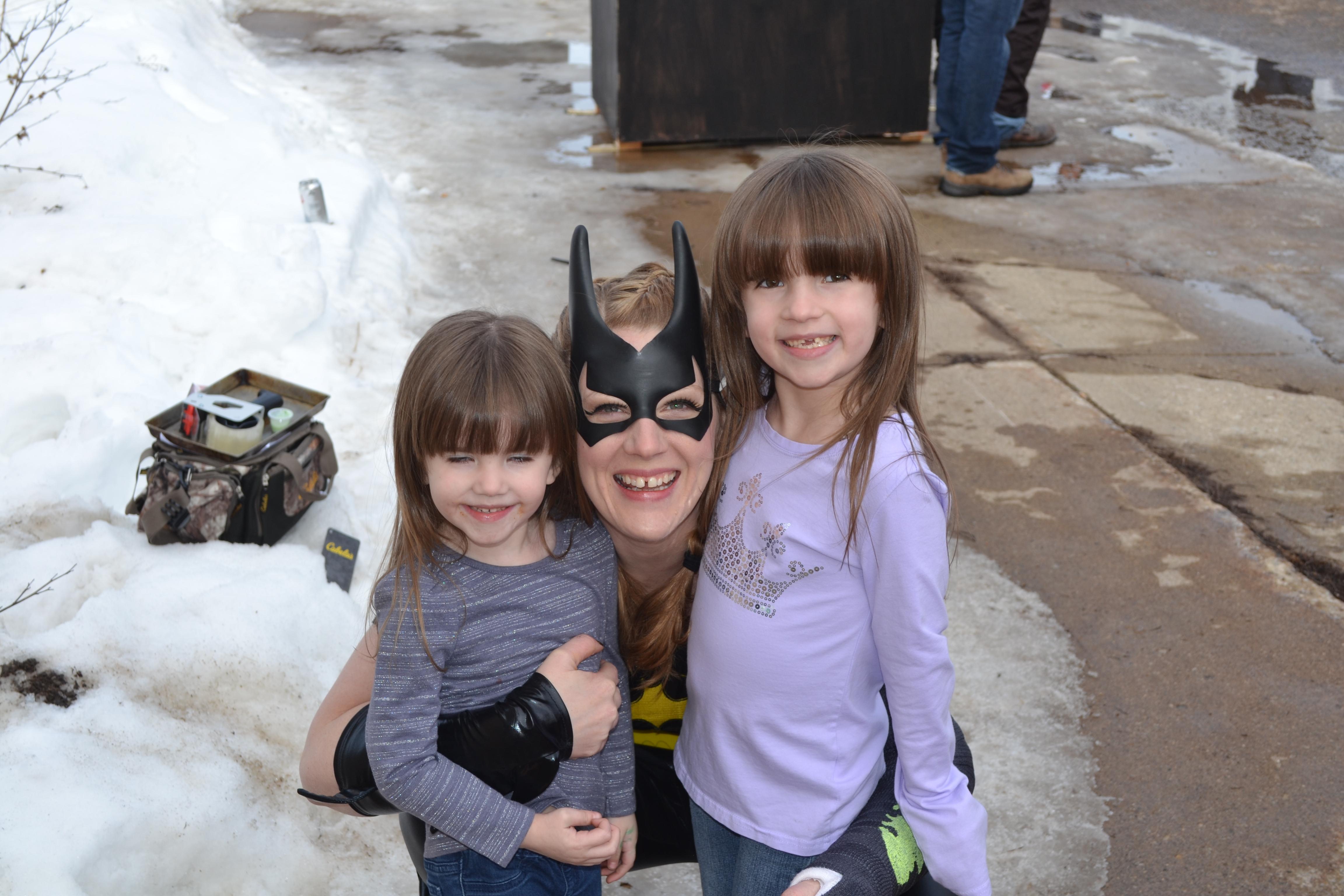 Posing with Bat Girl!