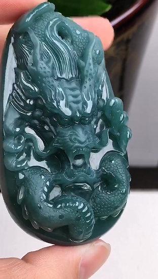 Green Dragon Jadeite Pendant (S90019)