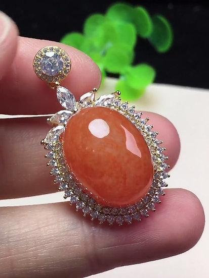 Orange Jadeite Pendant (P80050)