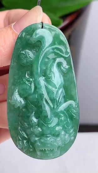 Green Pi Xiu Jadeite Pendant (S90014)