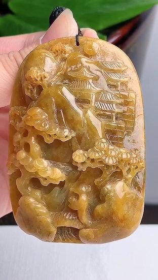 Yellow Mountain Jadeite Pendant (S90005)