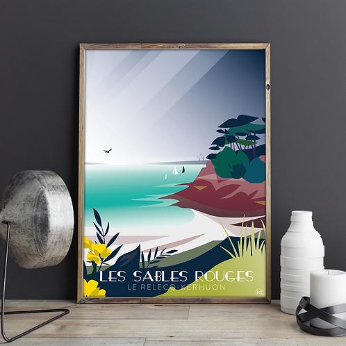 Affiche Les Sables Rouges Le Relecq-Kerhuon Brest