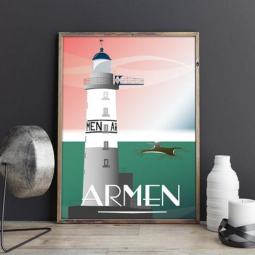 Affiche PHARE DE L'ARMEN