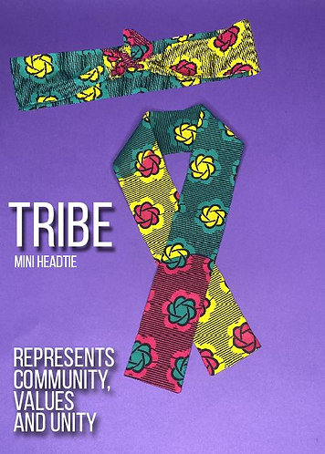 Tribe Mini HeadTie by WRAPPED BY ACT