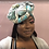 Thumbnail: Teal Delight Satin-Lined Headwrap By Wrapped by A.C.T