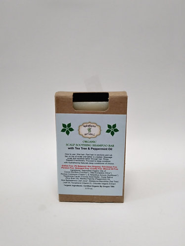 Hydratherma Natural Organic Scalp Soothing Shamp Bar with Tea Tree & Peppermint