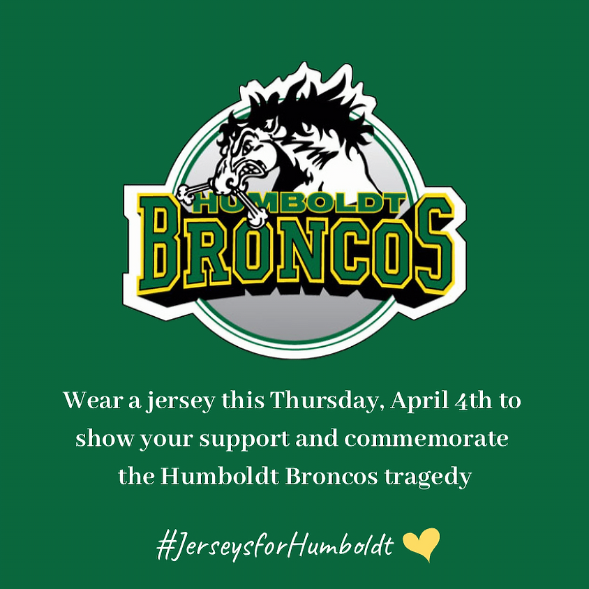 Humbolt Broncos Jersey Day