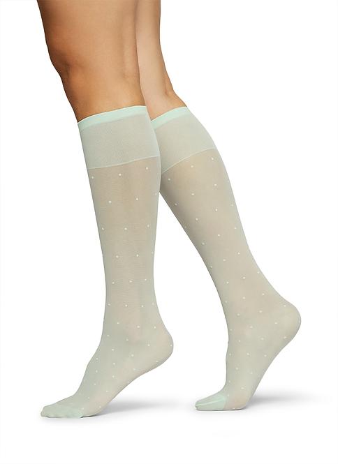 Sustainable Hosiery Swedish Stockings Doris Dot Knee High Socks Australia NZ