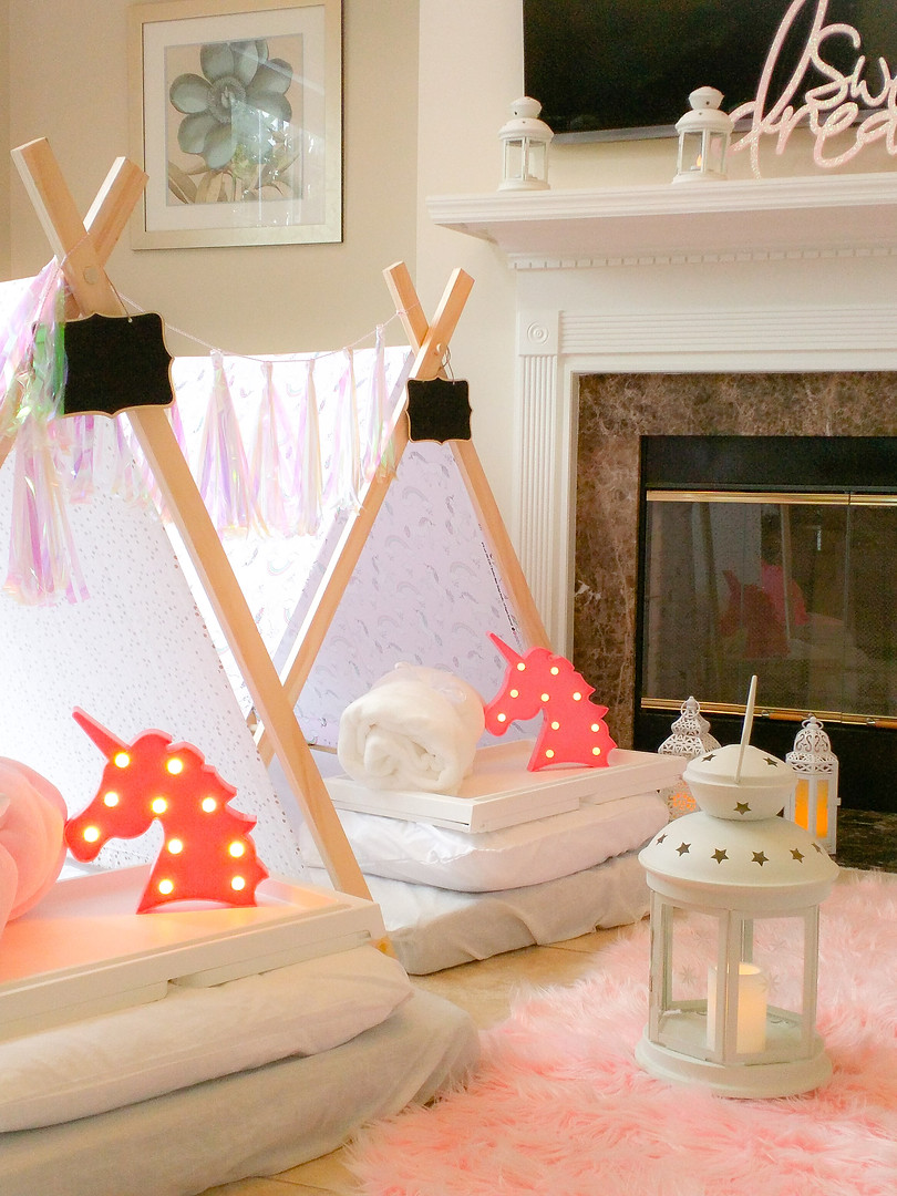 Unicorn Sleepover Party Theme