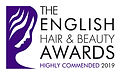 Highly Commended English Hair and Beauty Awards 2019