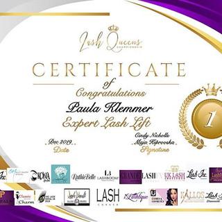 Congratulations Winners- Expert Lash Lif