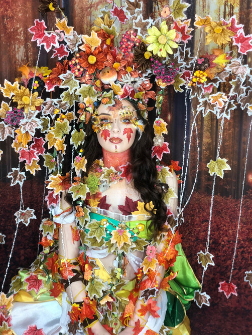 'First Frost of Autumn' Fantasy Lash Art by Cindy Nicholls