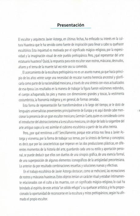 Introduction for the Exhibition: La Huasteca Desnuda del Tiempo. By Dr. Teresa Favela Fierro. 2003.