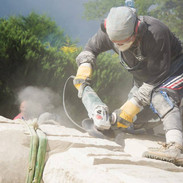 Carving Stone at Marcla Tour